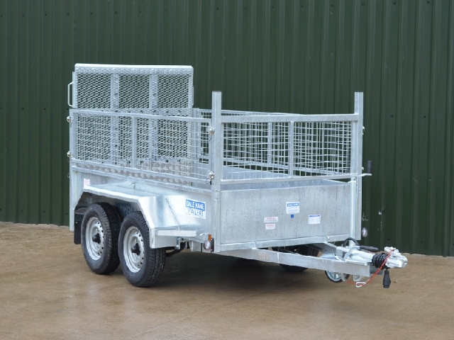 Dale Kane 8\'x4\' Builders Trailer with Wire Mesh Kit - Martin Supplies